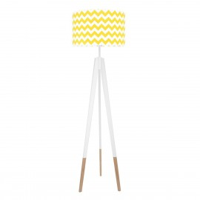 Lampa podłogowa abażur chevron żółty kolekcja NEW YORK youngDECO