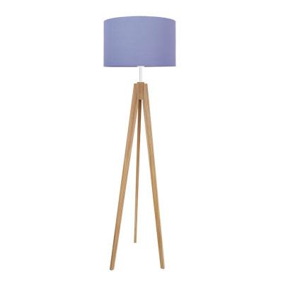 Golden dots, white floor lamp