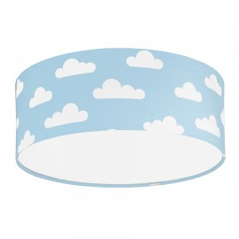 White Clouds on Light Blue Plafond Ceiling Lamp