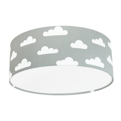 Lampa przysufitowa plafon chmurki na szarym kolekcja Scandinavian youngDECO