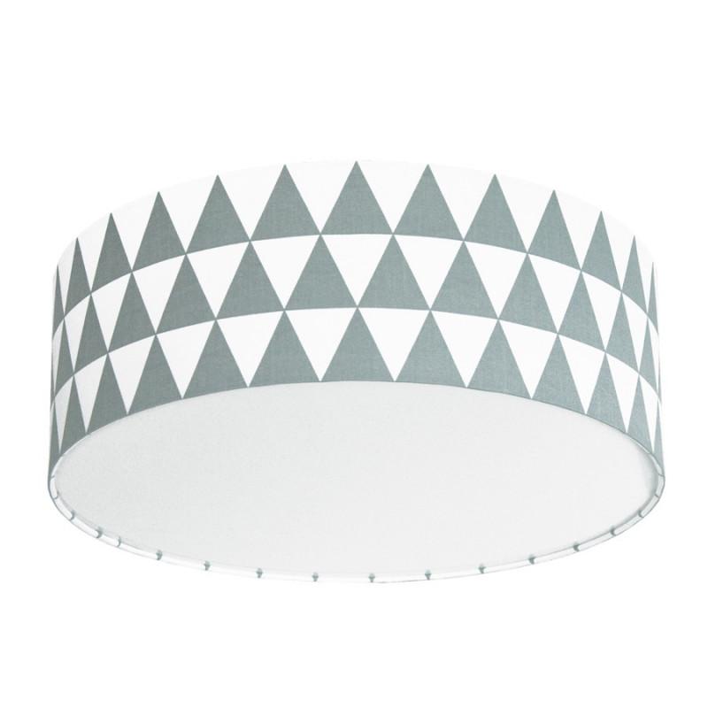Lampa przysufitowa plafon trójkąty szare kolekcja Scandinavian youngDECO