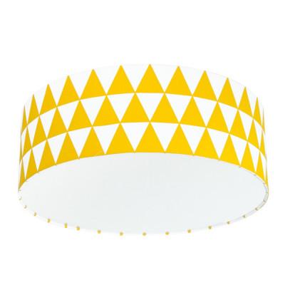 Lampa przysufitowa plafon trójkąty żółte kolekcja Scandinavian youngDECO