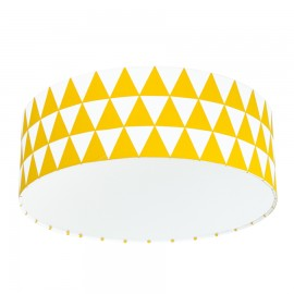 Yellow Triangles Plafond Ceiling Lamp