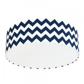 Navy Blue Chevron Plafond Ceiling Lamp