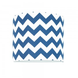 Sconce wall lamp with internal switch chevron navy blue collection New York youngDECO