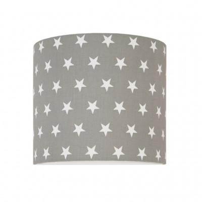 Lampa ścienna kinkiet z włącznikiem wewnętrznym gwiazdki na szarym kolekcja Scandinavian youngDECO