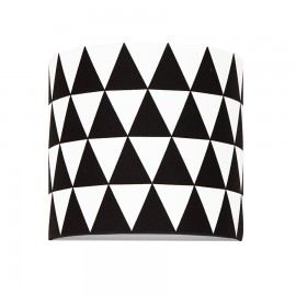 Sconce wall lamp with an internal switch black triangles collection Scandinavian youngDECO
