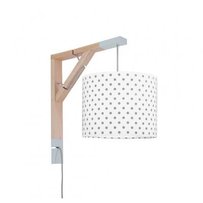 Lampa ścienna kinkiet Simple Grochy szare Kolekcja Scandinavian youngDECO