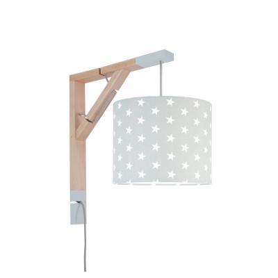 Lampa ścienna kinkiet Simple gwiazdki na szarym Kolekcja Scandinavian youngDECO