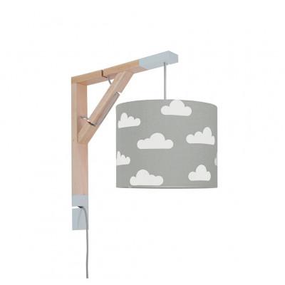Lampa ścienna kinkiet Simple chmurki na szarym Kolekcja Scandinavian youngDECO