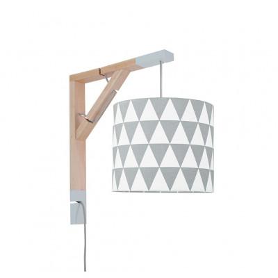 Lampa ścienna kinkiet Simple trójkąty szare Kolekcja Scandinavian youngDECO