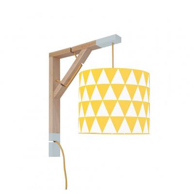 Lampa ścienna kinkiet Simple trójkąty żółte Kolekcja Scandinavian youngDECO