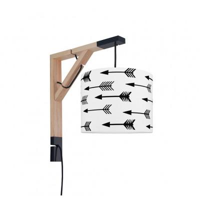 Lampa ścienna kinkiet Simple strzałki czarne Kolekcja Scandinavian youngDECO