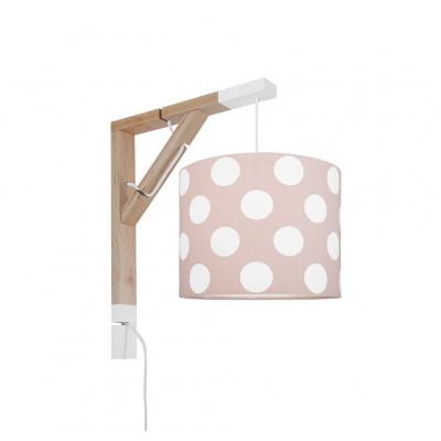 Lampa ścienna kinkiet Simple grochy na brudnym różu Kolekcja Scandinavian youngDECO