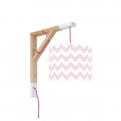 Lampa ścienna kinkiet Simple chevron różowy Kolekcja New York youngDECO