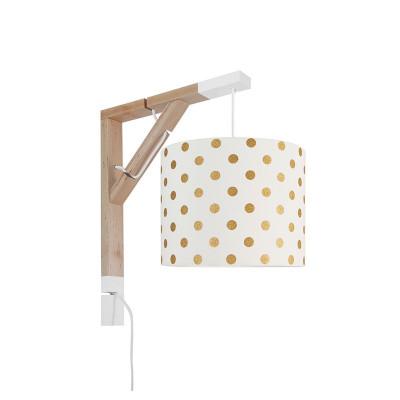 Lampa ścienna kinkiet Simple grochy złote Kolekcja Elegance youngDECO