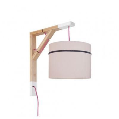 Lampa ścienna kinkiet Simple porcelanowy róż Kolekcja Elegance youngDECO