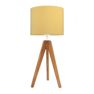 Lampa na stolik abażur musztardowy kolekcja Made by Colors youngDECO