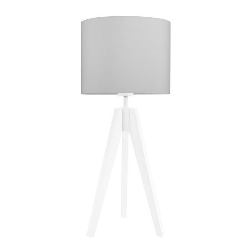 Lampa na stolik czysta szarość kolekcja Made by Colors youngDECO