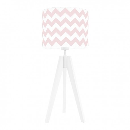 Pink chevron table lamp