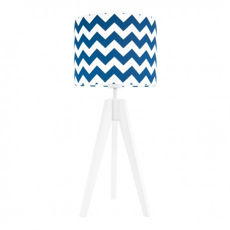Navy blue chevron table lamp