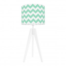 Mint chevron table lamp