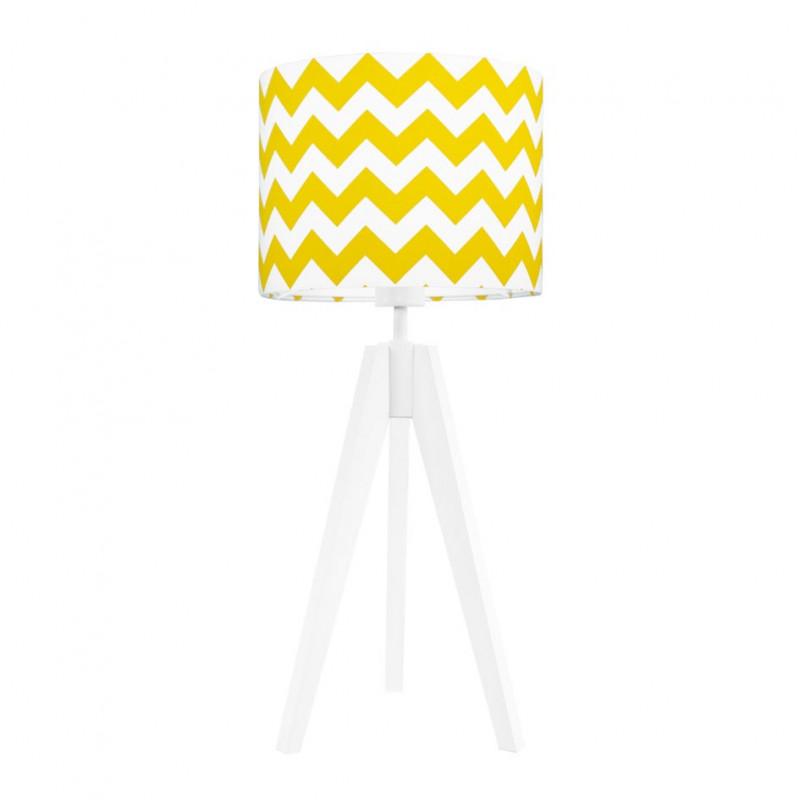 Lampa na stolik chevron żółty