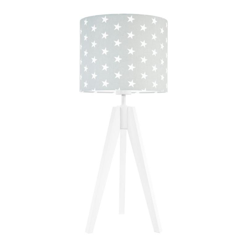 Lampa na stolik gwiazdki na szarym