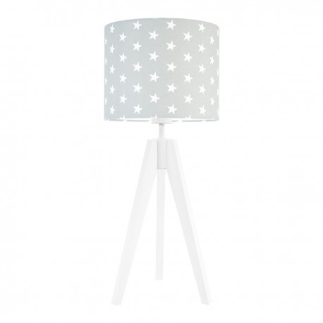 Stars on grey table lamp