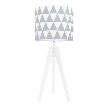 Grey triangles table lamp