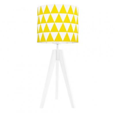 Lampa na stolik abażur w trójkąty żółte Kolekcja Scandinavian youngDECO