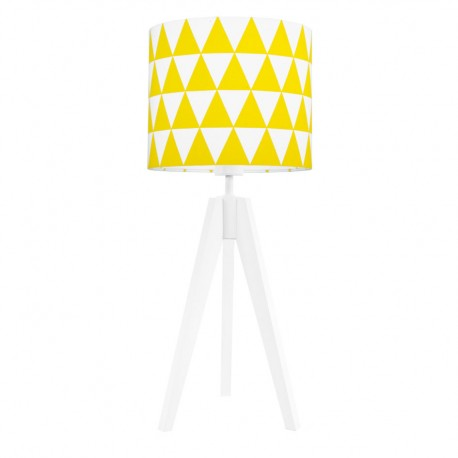 Yellow triangles table lamp