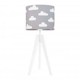 Clouds on grey table lamp