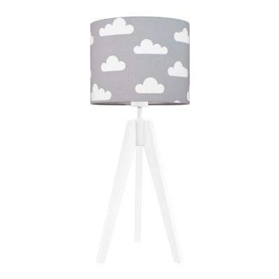 Lampa na stolik abażur w chmurki na szarym Kolekcja Scandinavian youngDECO