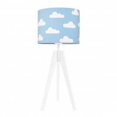 Lampa na stolik chmurki na błękitnym