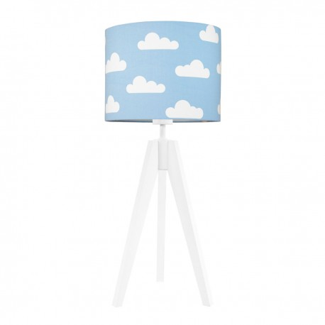 Clouds on light blue table lamp