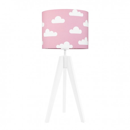 Clouds on pink table lamp