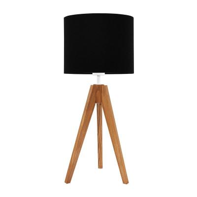 Lampa na stolik abażur czarny kolekcja Made by Colors youngDECO