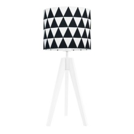 Lamp on a table lampshade in black triangles collection Scandinavian youngDECO
