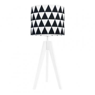 Lampa na stolik abażur w trójkąty czarne Kolekcja Scandinavian youngDECO