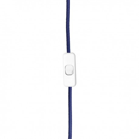 Navy blue cable with plug, length 3m thread E27 youngDeco