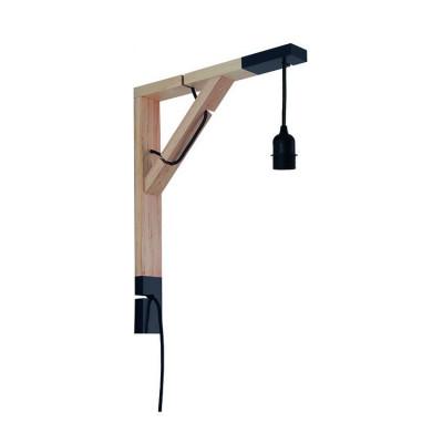 Drewniane mocowanie ścienne do lampy, ramię do lampy ściennej uchwyt lampy SIMPLE czary youngDeco
