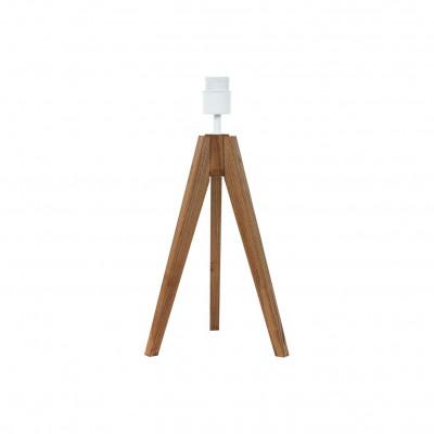 Drewniana podstawa lampki na stolik dębowa, trójnóg youngDeco