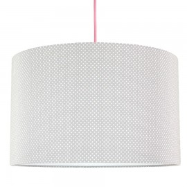 Cream Dots on pastel grey Lampshade Ø40cm