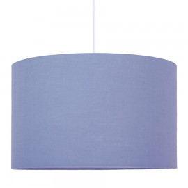 Lampshade dull blue diameter 40cm Collection Linen youngDECO