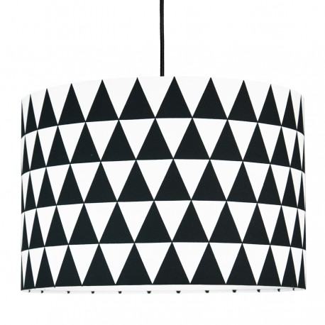 Lampshade black triangles diameter 40cm collection Scandinavian youngDECO