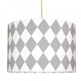 Grey Diamonds Lampshade Ø40cm