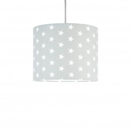 White stars on grey MINI Lampshade Ø25cm