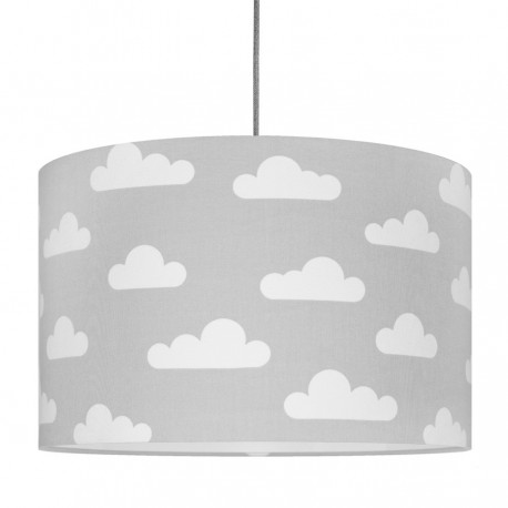 White Clouds on grey Lampshade Ø40cm