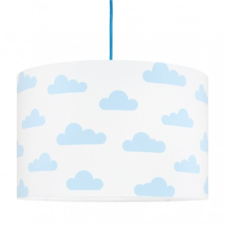 Light blue Clouds on white Lampshade Ø40cm
